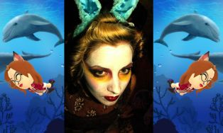 Bunny face paint under the sea Miitomo